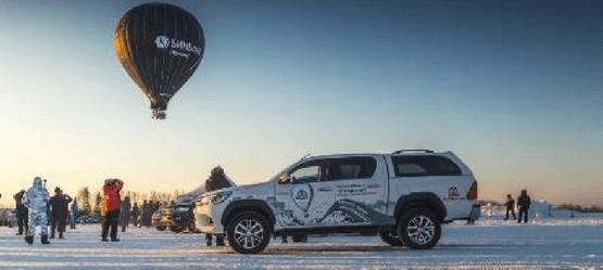 Федор Конюхов установил рекорд воздухоплавания при поддержке Toyota Hilux
