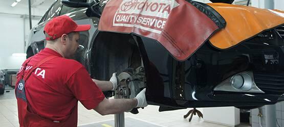 Диагностика иремонт подвески Toyota
