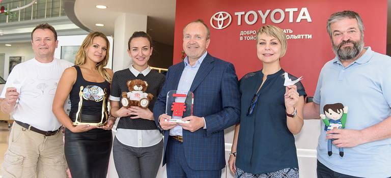Международный автопробег «Россия-Япония. Резервы человечества» посетил Тойота Центр Тольятти.