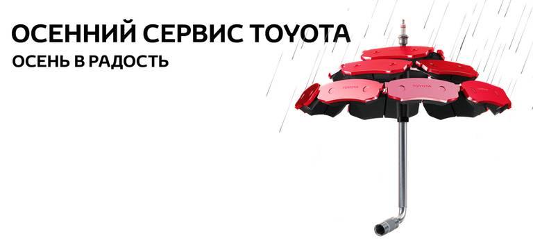 Сезонный сервис Toyota. Осень 2020