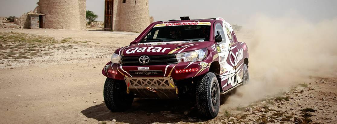 Нассер Аль-Аттия наToyota Hilux выиграл Qatar Sealine Rally