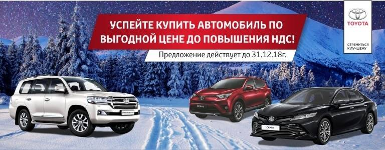 Успейте приобрести автомобиль повыгодной цене: с1января 2019 года НДС поднимется до20%