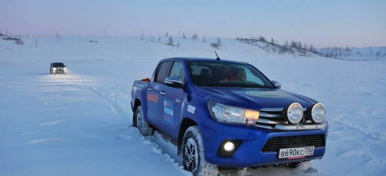 Испытан Крайним Севером: очередной рекорд легендарного Toyota Hilux для книги Гиннесса