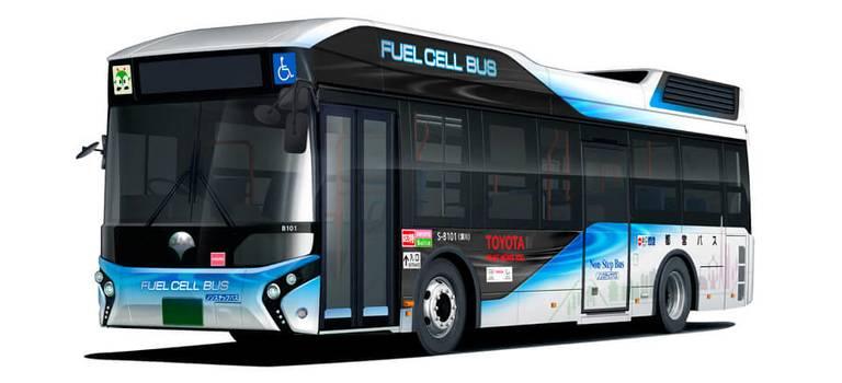 Первый автобус Toyota наводородных элементах передан правительству Токио