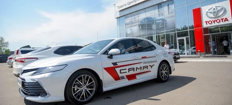 15мая вдилерском центре Тойота Центр Иваново прошла презентация обновленной Toyota Camry.