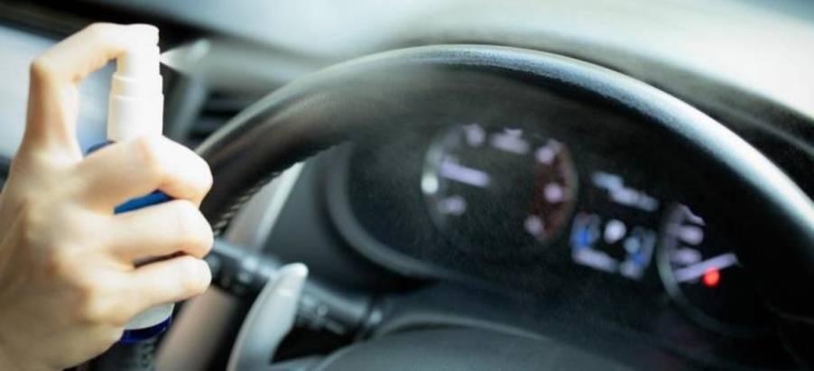 Важно: неоставляйте дезинфекторы всалоне автомобиля