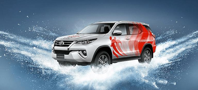 Cтарт состязания Toyota Challenge Cup врамках Олимпийских игр 2018