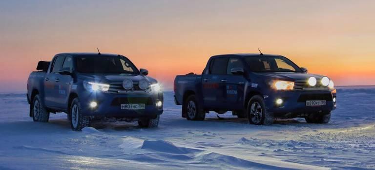 Испытан Крайним Севером: очередной рекорд Toyota Hilux для книги Гиннесса