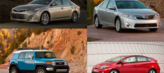 Toyota вновь влидерах рейтинга надежности