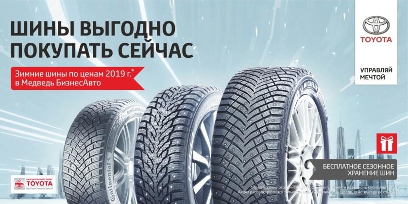 Зимние шины по ценам 2019 г. в Медведь БизнесАвто