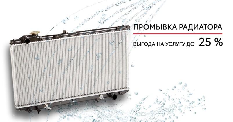 Комплексное предложение по «Промывке радиатора»  с выгодой  до 25%