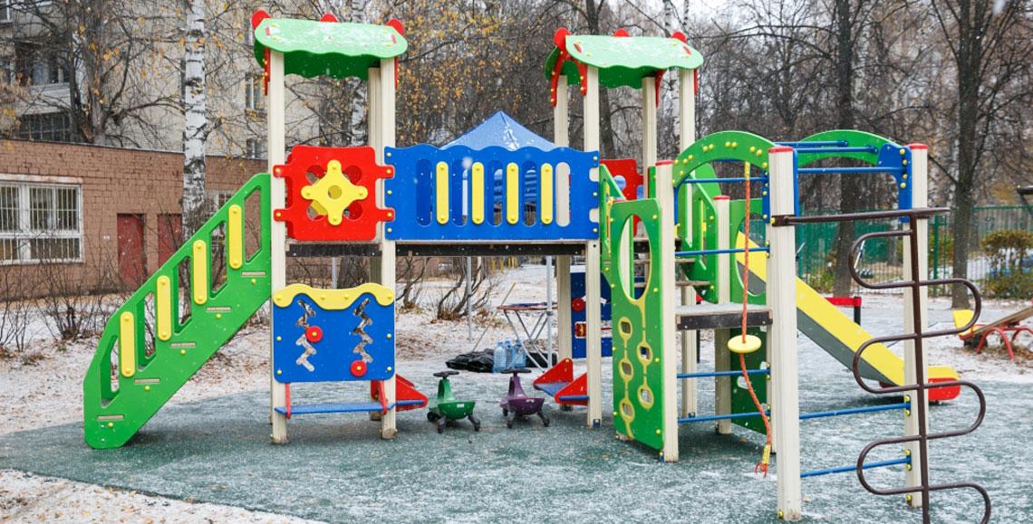 Компания «Тойота Мотор» подарила детскую площадку жителям города Мытищи