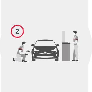 Toyota Trade in шаг 2:  осмотр автомобиля и его оценка