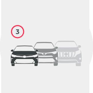 Toyota Trade in шаг 3:  выбор нового автомобиля Тойота