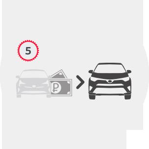 Toyota Trade in шаг 5:  доплатите разницу или возьмите кредит